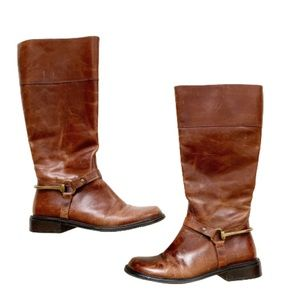 Matisse Cognac Equestrian Leather Riding Boots 6.5